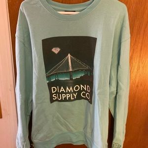 Teal diamond brand sweatshirt